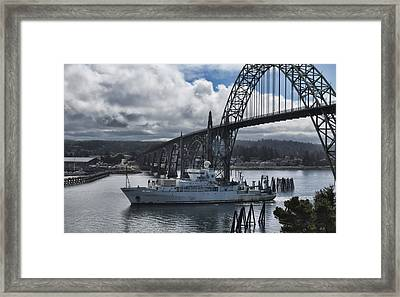 Thomas G Thompson Coming Into Newport  Framed Print