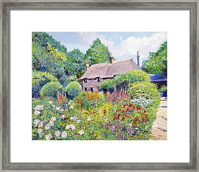 Thomas Hardy House Framed Print by David Lloyd Glover