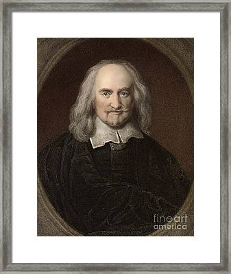 Thomas Hobbes, English Philosopher Framed Print