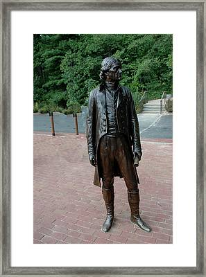 Thomas Jefferson At Monticello Framed Print