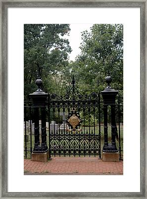Thomas Jefferson Grave Site Monticello Framed Print
