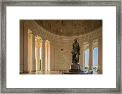 Thomas Jefferson Framed Print by Inge Johnsson