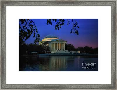 Thomas Jefferson Memorial Sunset Framed Print