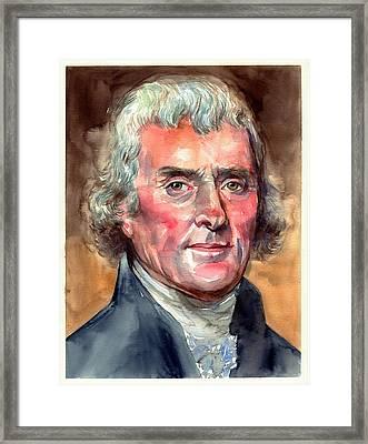Thomas Jefferson Portrait Framed Print