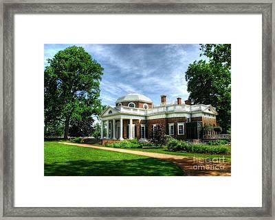 Thomas Jefferson's Home Framed Print by Mel Steinhauer