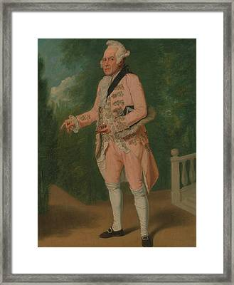 Thomas King In The Clandestine Marriage By George Colman And David Garrick Framed Print