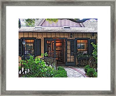 Thomas Kinkade Garden Gallery Of Carmel Framed Print