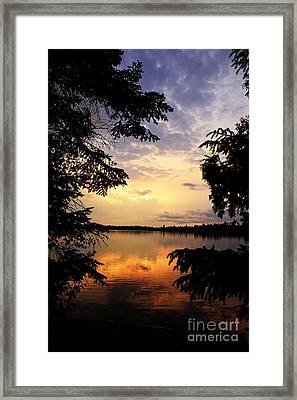 Framed Print featuring the photograph Thomas Lake Sunset 2 by Larry Ricker