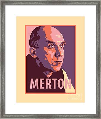 Thomas Merton - Jltme Framed Print