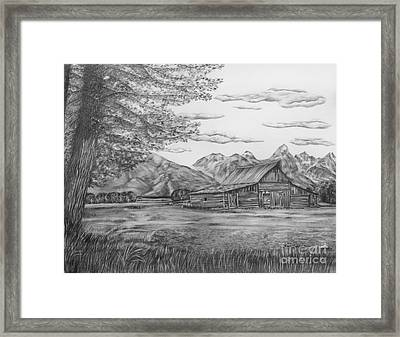 Thomas Moulton Barn Framed Print by Lena Auxier