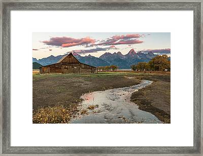 Framed Print featuring the photograph Thomas Moulton's Barn by Chuck Jason