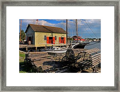 Thomas Oyster Co.- Mystic Framed Print by Thomas Schoeller