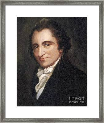 Thomas Paine, American Founding Father Framed Print by Photo Researchers