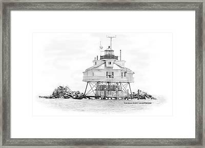 Thomas Point Lighthouse Framed Print