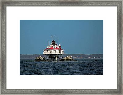 Thomas Point Shoal Light Framed Print