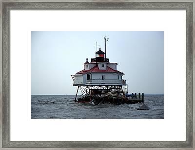 Thomas Point Shoal Lighthouse Framed Print