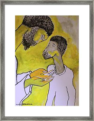 Thomas Sees Jesus Wounds Framed Print