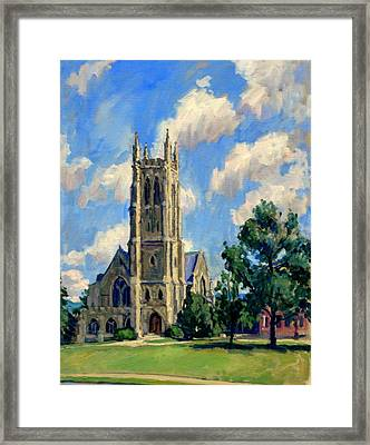 Thompson Chapel Williams College Framed Print