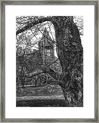 Thompson Hall At Unh Framed Print by Robert Goudreau
