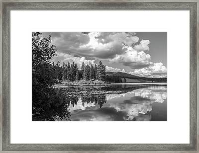 Thompson Lake In Black And White Framed Print