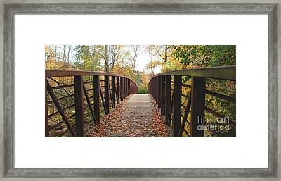 Thompson Park Bridge Stowe Vermont Framed Print by Felipe Adan Lerma
