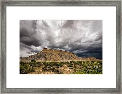 Thompson Springs Thunderstorm - Utah Framed Print