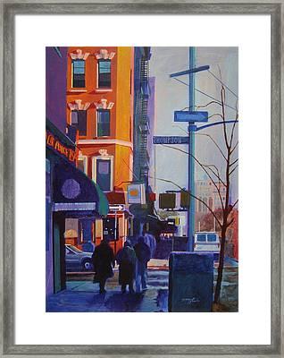 Thompson Street Framed Print by John Tartaglione