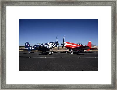 Thompson Trophy Goodyear F2g Corsair Reunion Falcon Field Arizona December 27 2011 Framed Print