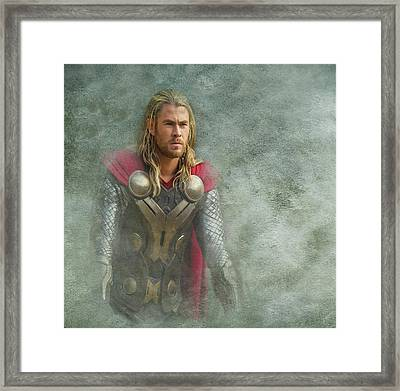 Thor In Asgard  Framed Print