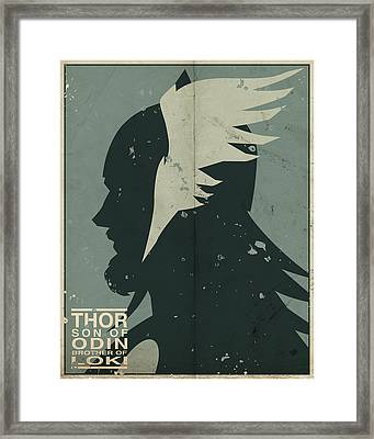 Thor Framed Print by Michael Myers