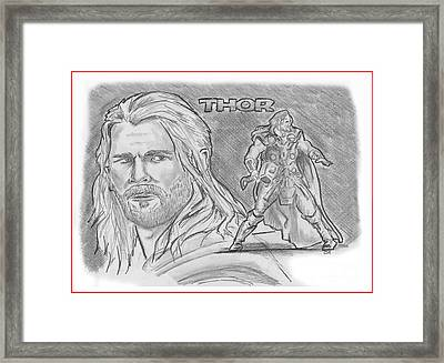 Thor Odinson Framed Print by Chris  DelVecchio