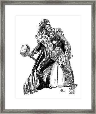 Thor Framed Print by Vittorio Magaletti
