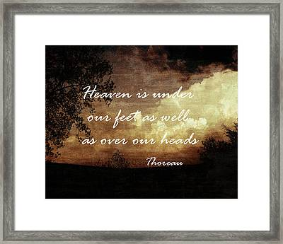 Thoreau Nature Quote Framed Print by Ann Powell