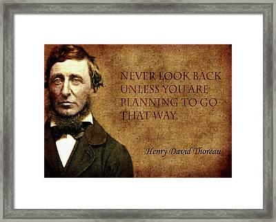 Thoreau Quote 2 Framed Print