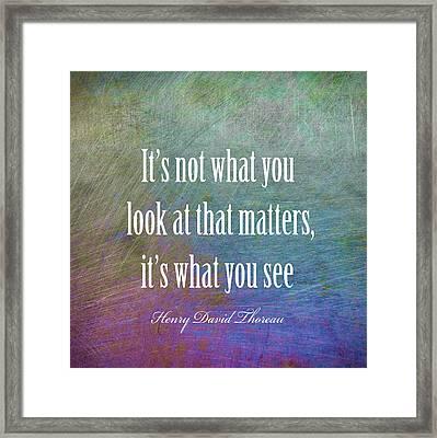 Thoreau Quote Framed Print