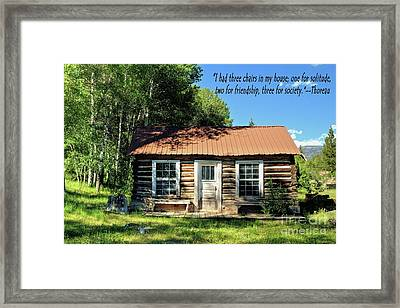 Thoreau--three Chairs Framed Print