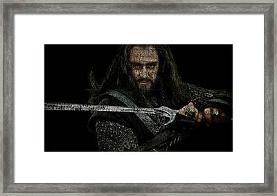 Thorin Oakenshield - Richard Armitage Framed Print by Prar Kulasekara