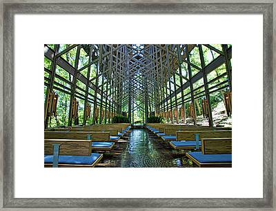 Framed Print featuring the photograph Thorncrown Chapel Interior by Cricket Hackmann