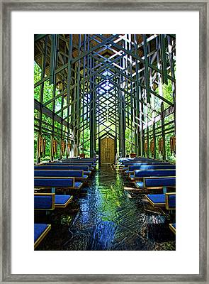 Thorncrown Chapel Serenity Framed Print