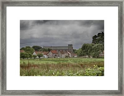 Thornham From The Marsh Framed Print by John Edwards