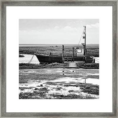 Thornham Harbour, North Norfolk Framed Print by John Edwards