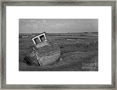 Thornham Wreck Framed Print