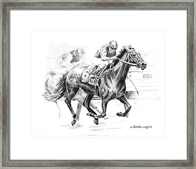 Thoroughbred Best Pal Framed Print