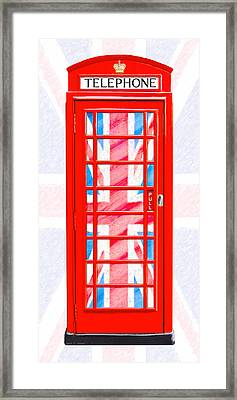 Thoroughly British Flair - Classic Phone Booth Framed Print