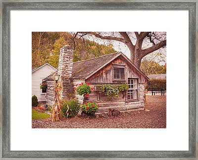 Thorp Cabin Door County Wisconsin Framed Print by Heidi Hermes