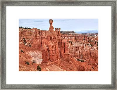 Thors Hammer At Bryce Canyon Framed Print by Donna Kennedy