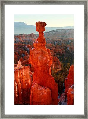 Thor's Hammer At Sunrise Framed Print by Pierre Leclerc Photography