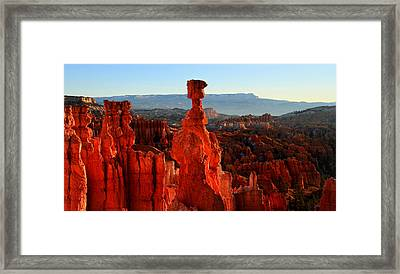 Thor's Hammer In Bryce Canyon At Sunrise Framed Print by Pierre Leclerc Photography