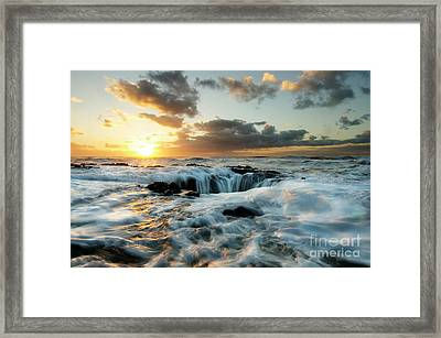 Thors Well Cape Perpetua Framed Print by Bob Christopher