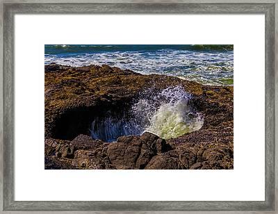 Thor's Well Coastal Oregon Framed Print